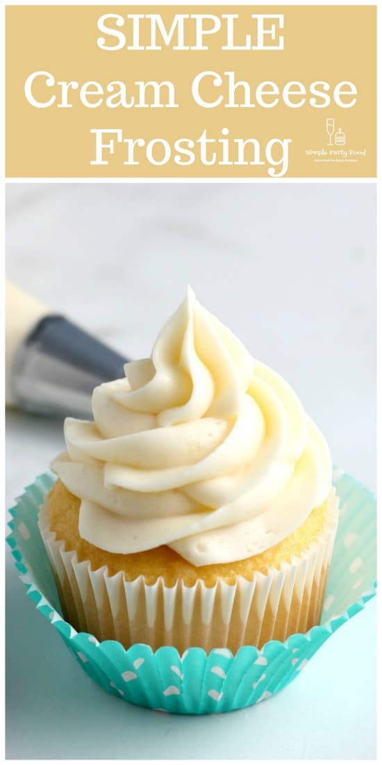 How to make SIMPLE Cream Cheese Frosting with 4 ingredients #frosting #creamcheesefrosting #cupcakefrosting #partyfood #simplepartyfood