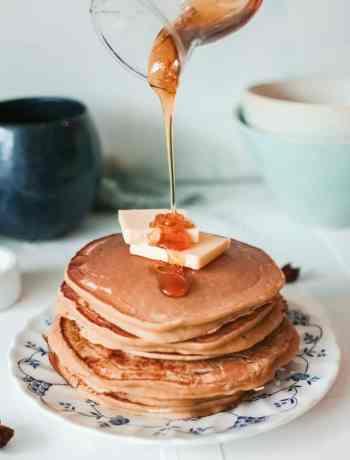 SIMPLE Apple Butter Pancakes