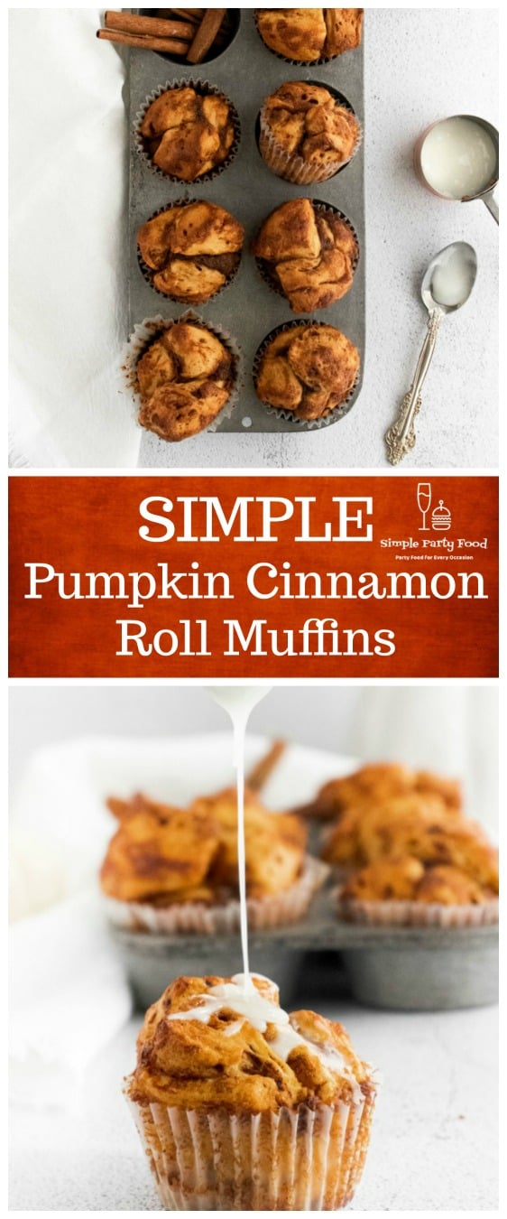 SIMPLE Pumpkin Cinnamon roll muffins