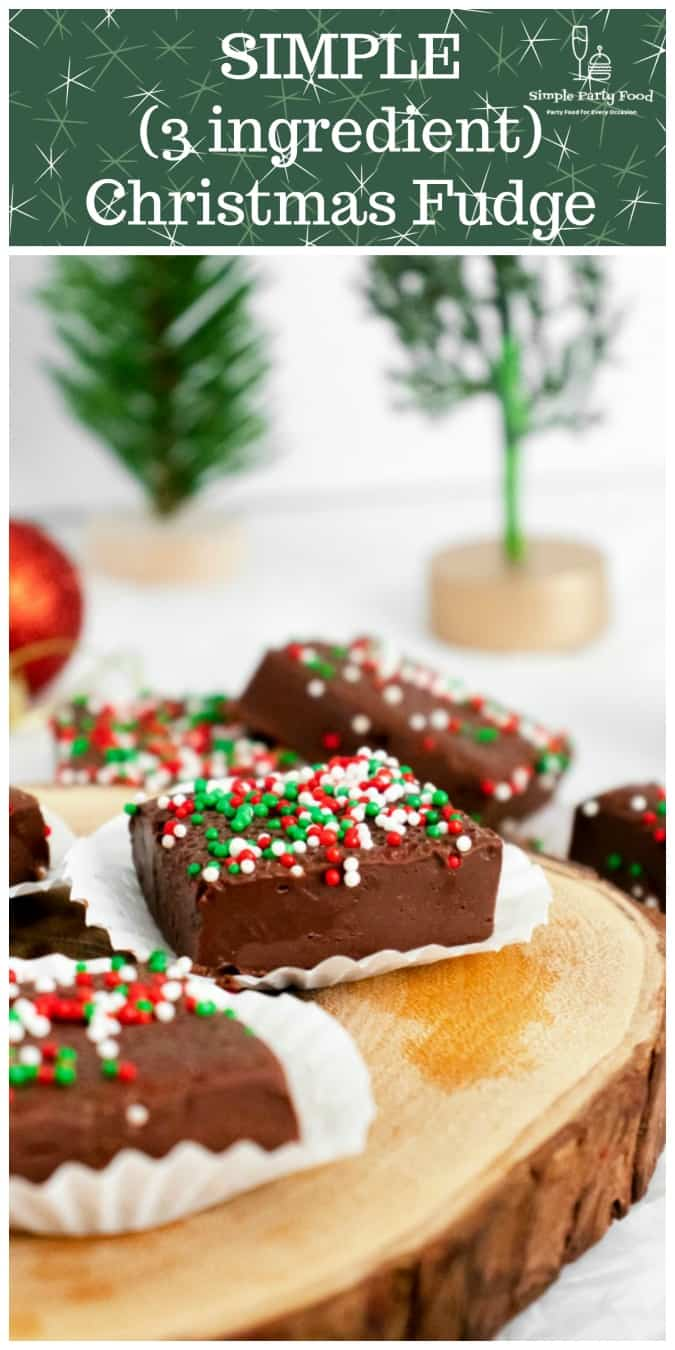 SIMPLE 3 ingredient holiday fudge