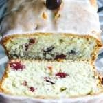 SIMPLE Cranberry orange pound cake