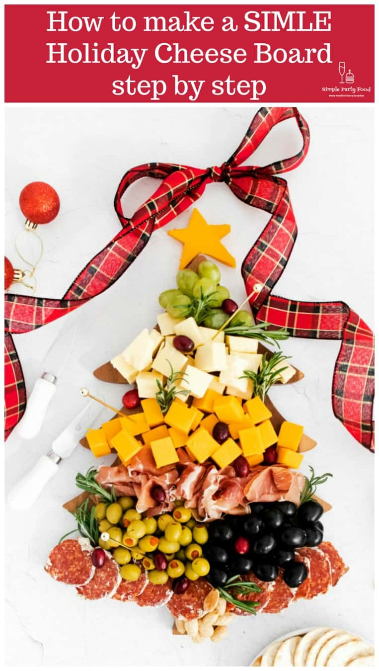 How to make a SIMPLE-Christmas-Tree-Cheese-Board step by step