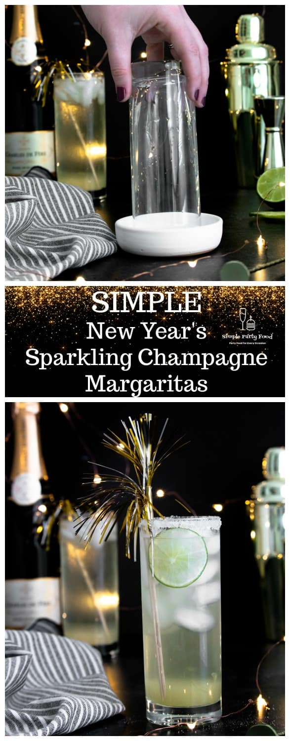SIMPLE Sparkling Champagne Margarita for New Years Eve #simplepartyfood