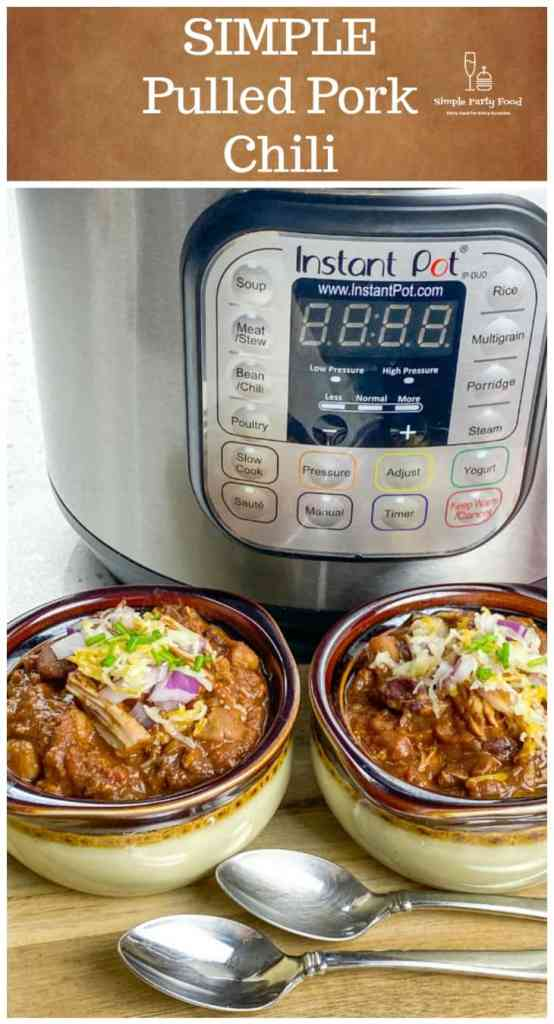 Instant Pot Pulled Pork chili is a must for game day