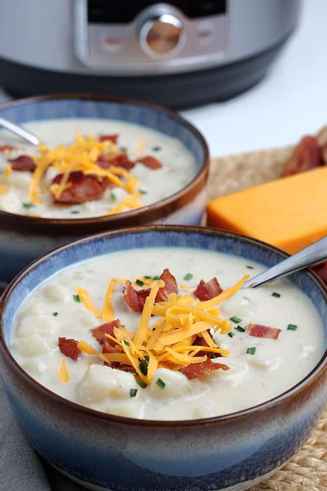 Simple Instant Pot Potato Soup #simplepartyfood