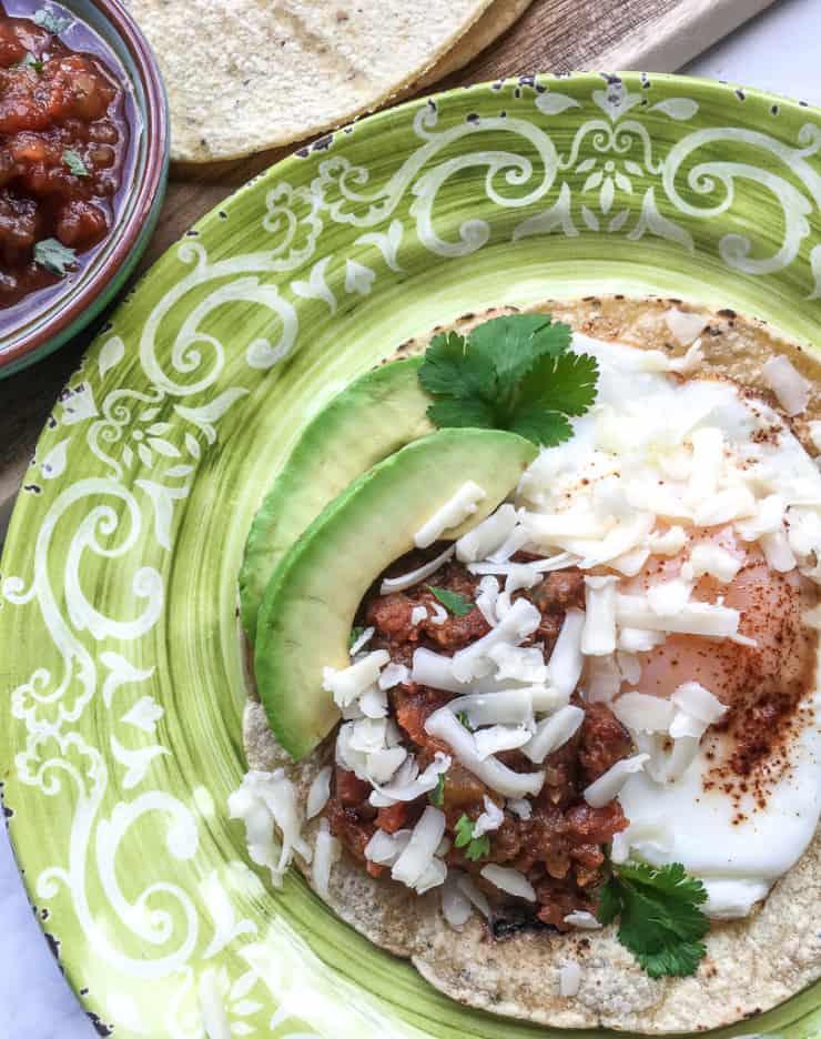 SIMPLE Huevos Rancheros is a classic Mexican egg breakfast