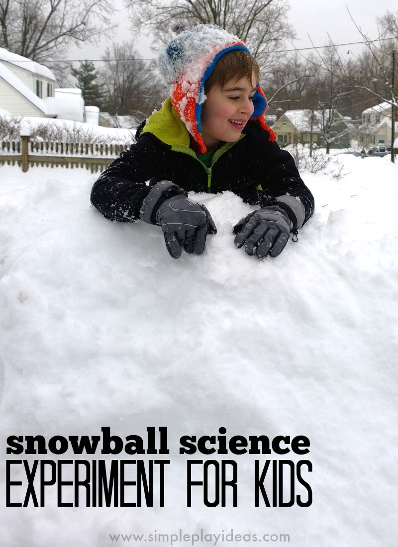 Snowball science - winter science experiment kids will love!