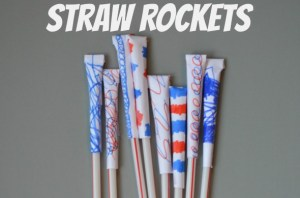 How to make Straw rockets - fun boredom buster!