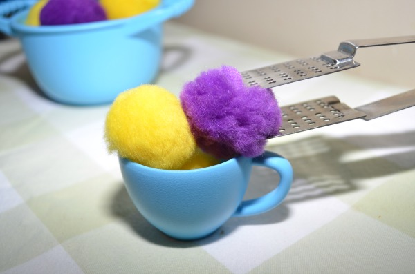 Pompom Tea Party: pretend play and fine motor fun!