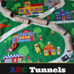 Toilet Paper Roll ABC Tunnels