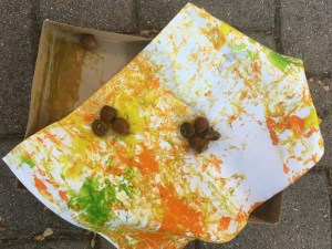 Shake Painting With Acorns