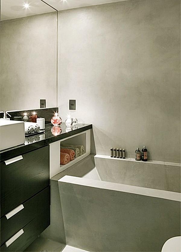 20 banheiros pequenos com banheira  Simples Decoracao