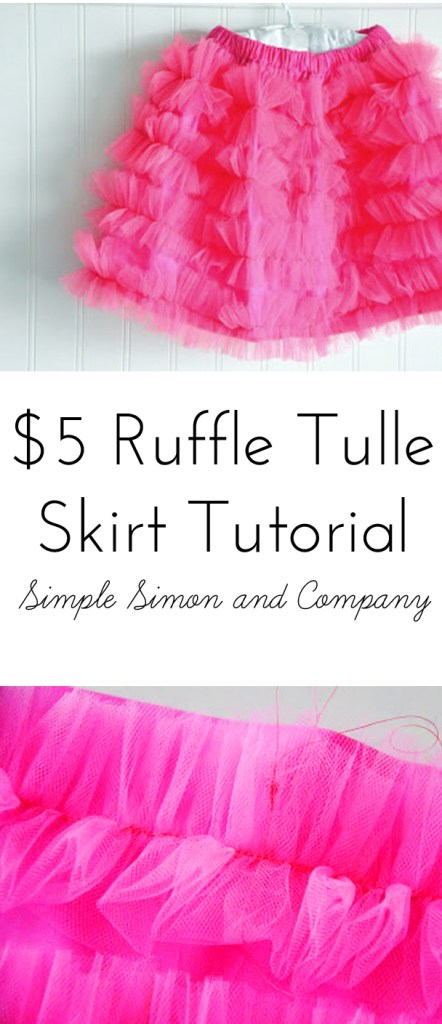 Ruffle Tulle Skirt Tutorial