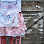 A Vintage Dishtowel Apron Skirt. And a tutorial.