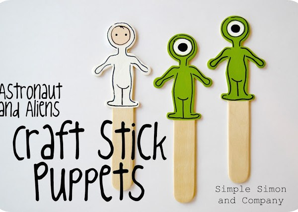 Craft Stick Puppets—Perfect for Something On a Stick Day