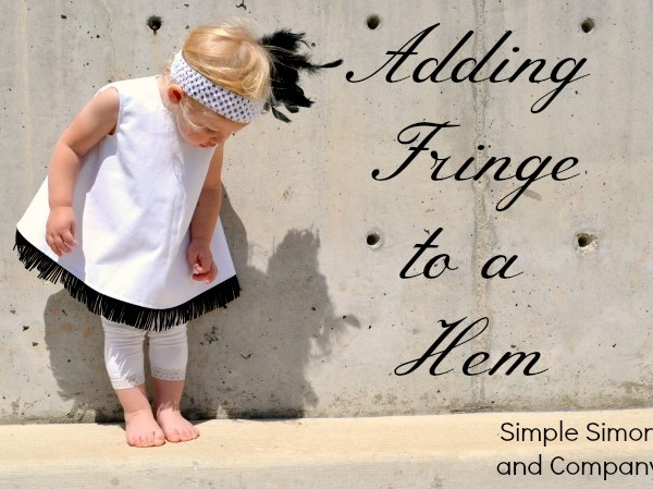 How to Add Fringe to a Hem for $5 Friday