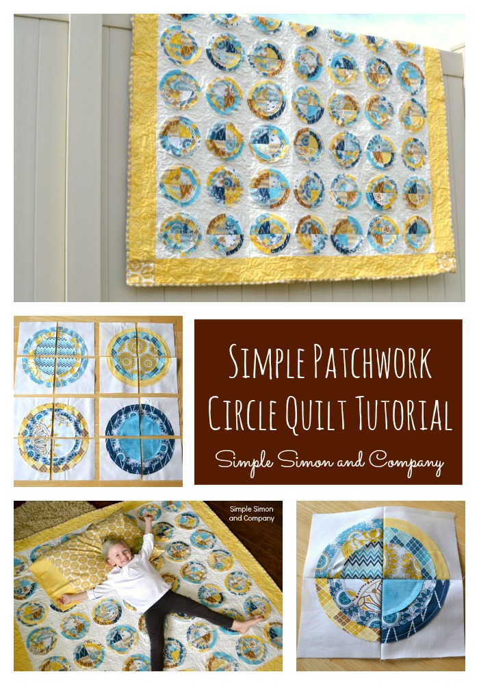 Indie Chic Patchwork Circle Quilt Tutorial