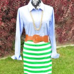 Easy Striped Maxi Skirt Tutorial