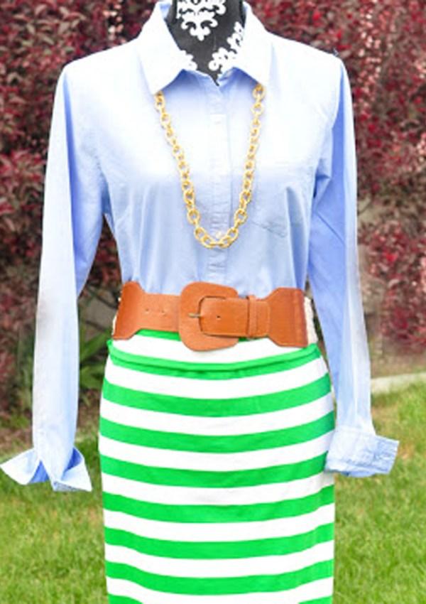 Easy Striped Maxi Skirt Tutorial