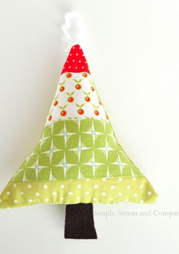 Fabric Scraps Ornament Tutorial