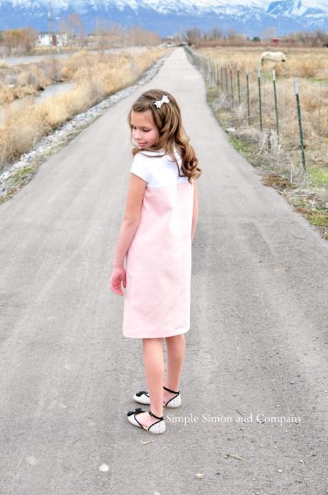 pink shift dress back dress