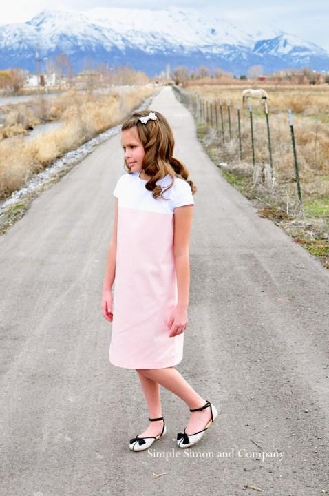 pink shift dress image