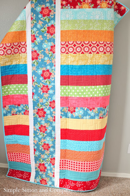 Down the middle quilt…