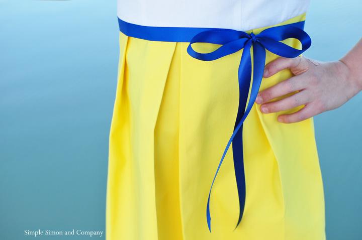 starboard dress--pleat detail