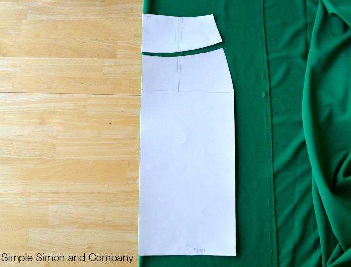Knit Pencil Skirt Tutorial Step 1