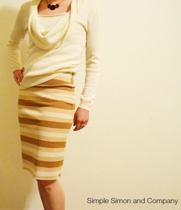 Pencil Skirt Knit Stripes