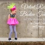 Velvet Ribbbon Bodice Tutorial