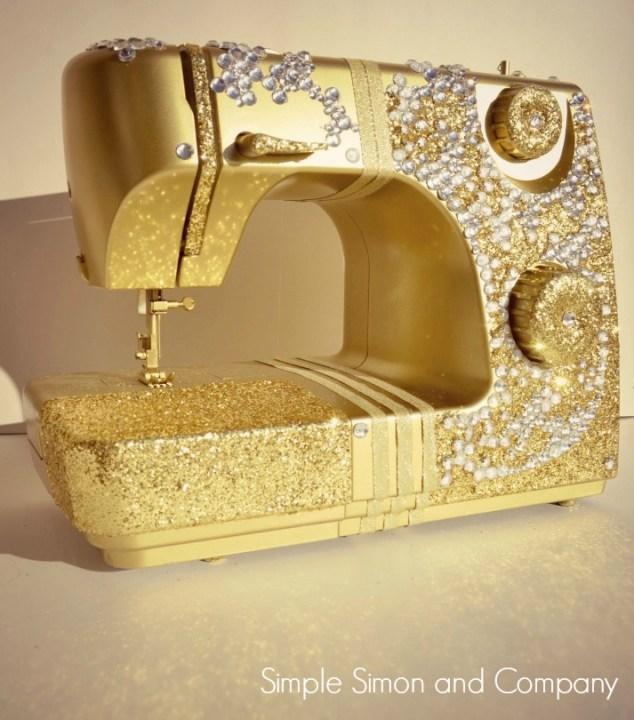 Golden Bling Sewing Machine