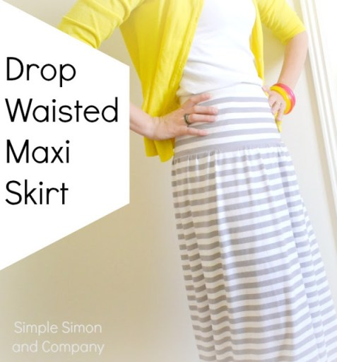 Drop Waisted Maxi Skirt