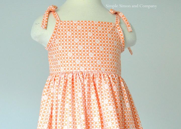 orange sundress bodice free pattern