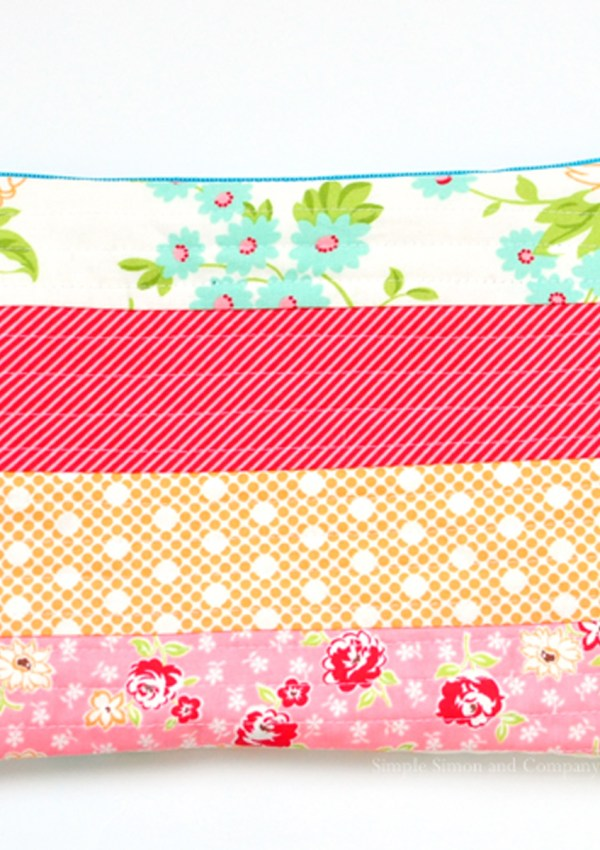 Free Zipper Bag Pattern- Quilt as you Go Method