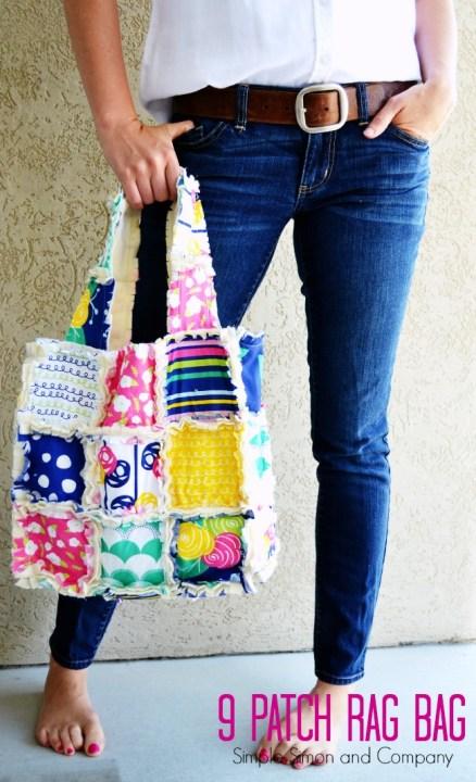 9 Patch Rag Bag Tutorial Cover photo