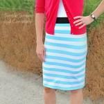 Easy Knit Skirt Tutorial