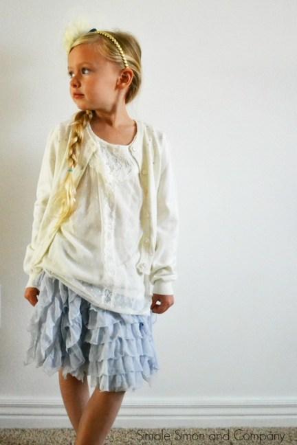 Elsa Inspired Ruffle Skirt