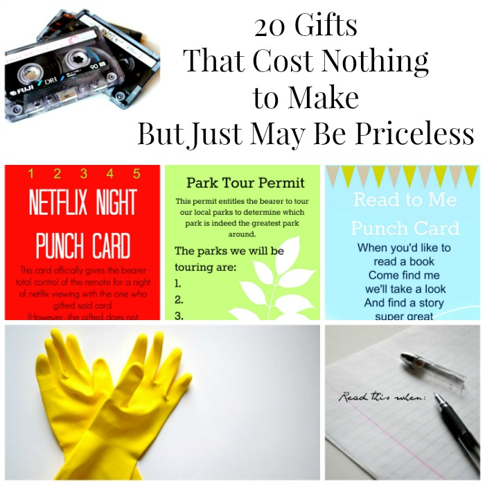 20 gifts that cost nothing to make