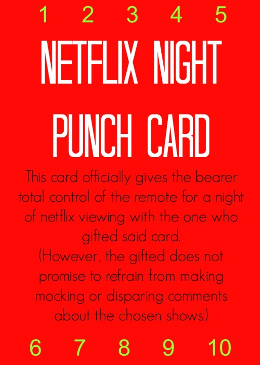 Netflix Night Punch Card