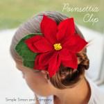 Poinsettia Hair Clip DIY