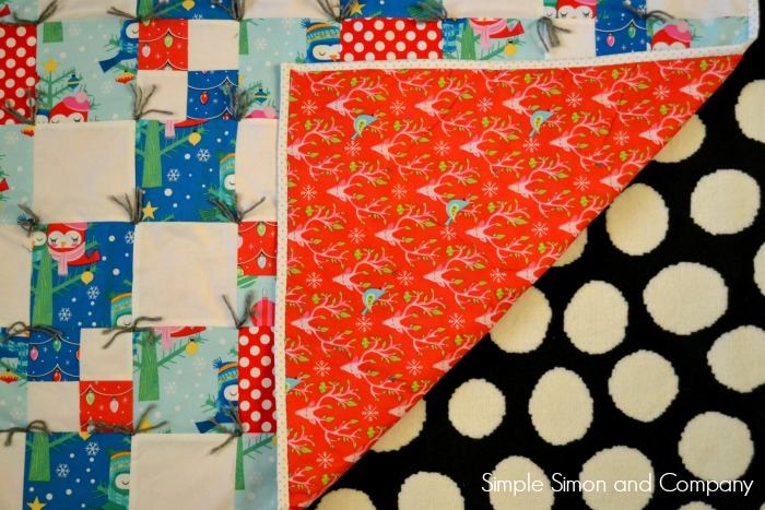 Easy Beginner Quilt Top Front and Back