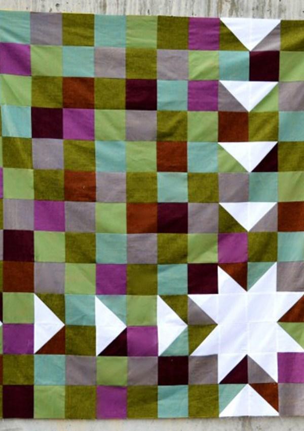 A Free Sawtooth Sunburst Quilt Top Pattern