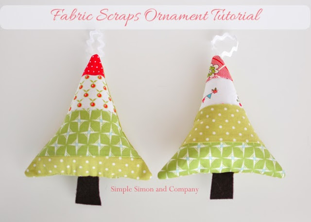 fabric scraps ornament tutorial--simple simon and company