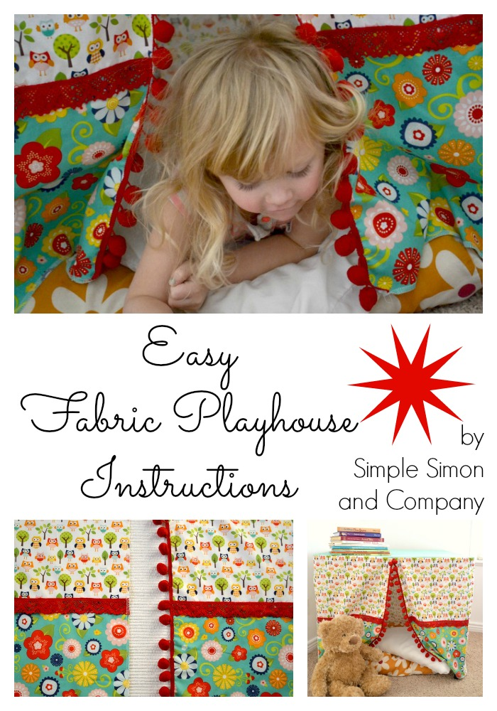 Fabric Playhouse Collage