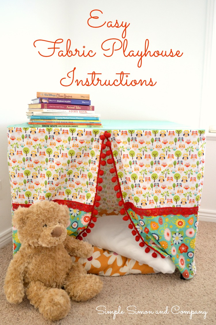 Fabric Playhouse Tutorial Photo