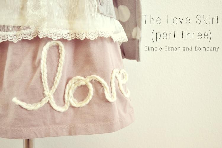 Love Skirt Tutorial