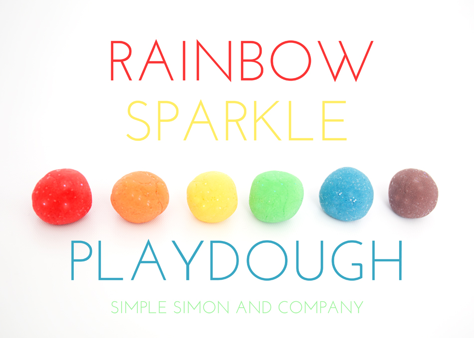 rainbow sparkle playdough title