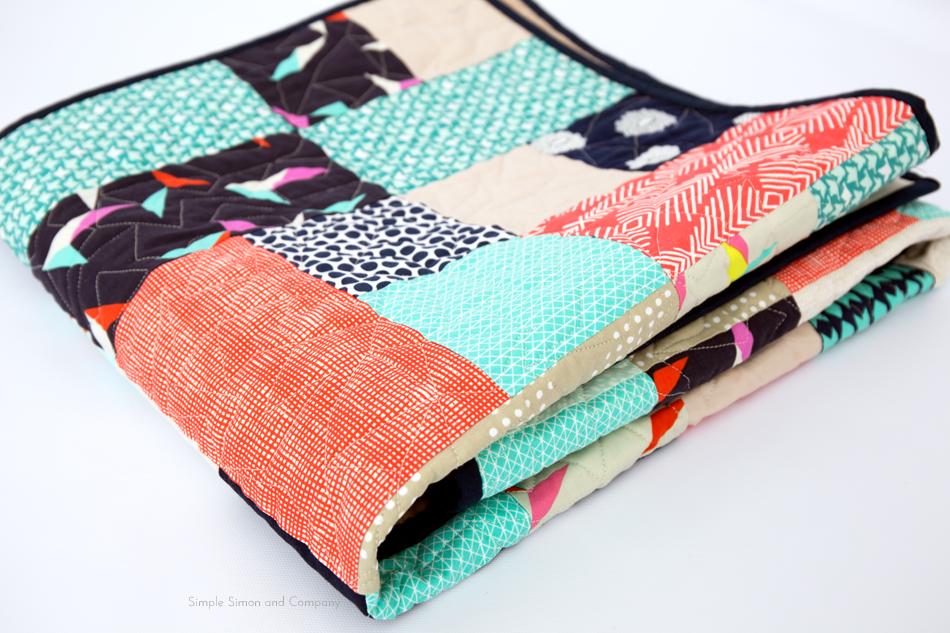 baby quilt binding tutorial