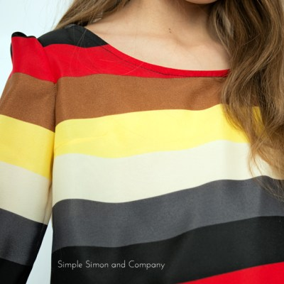 A Striped Tunic.